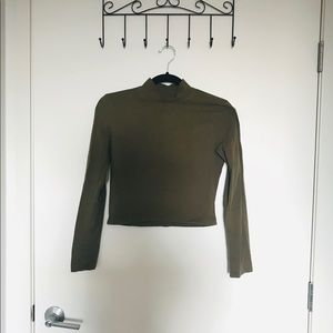 American apparel mock neck crop top